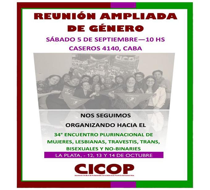 CICOP - Reunión Ampliada de Género