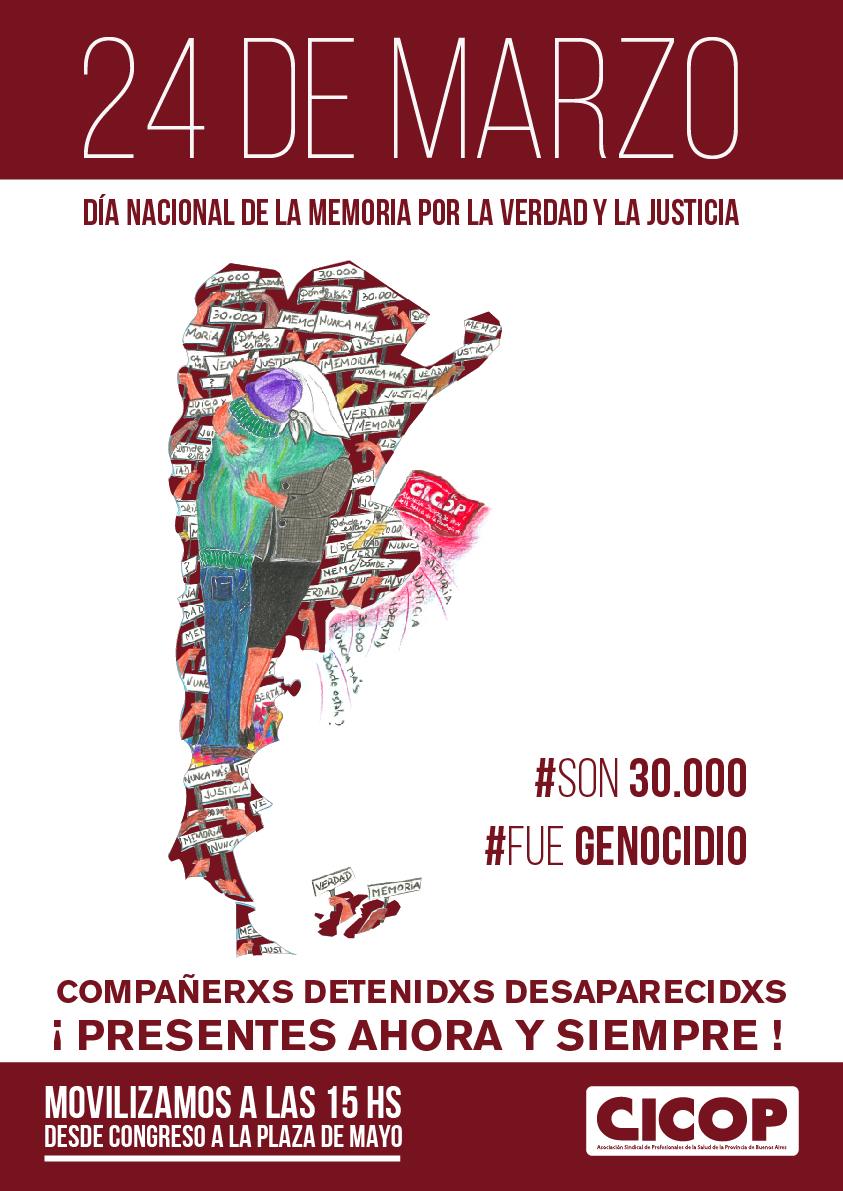 24 de marzo: Día Nacional de la Memoria por la Verdad y la Justicia